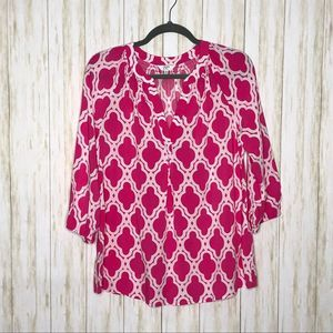 Crown & Ivy | 3/4 sleeve Tunic Top | size Small